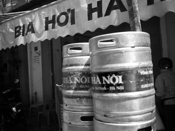 B&W beer barely in Hanoi
