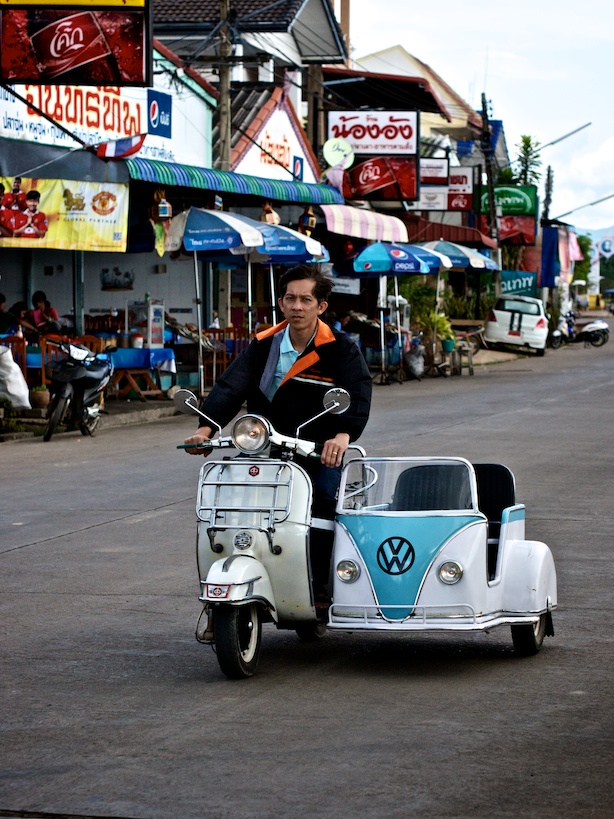 but for now a scooter and VW sidecar will suffice…