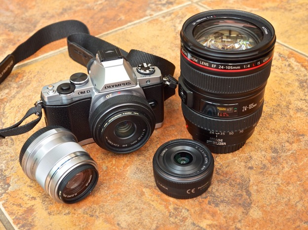 Olympus OM-D E-M5 and various lenses